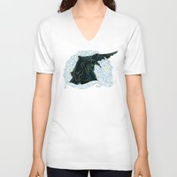 pacific rim V-neck T-shirts featuring Pacific Rim - Starry Kaiju by Charleighkat