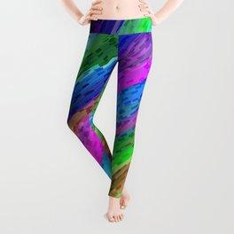 Colorful digital art splashing G478 Leggings