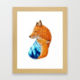 Serene Foxes Framed Art Print
