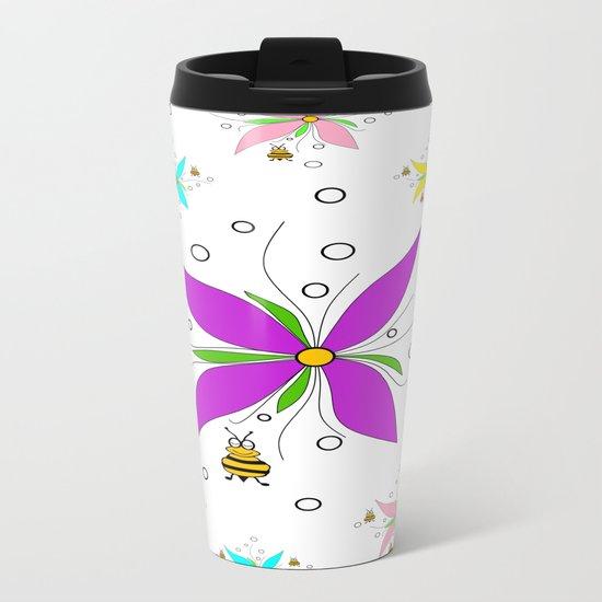 A Bees Paradise Metal Travel Mug
