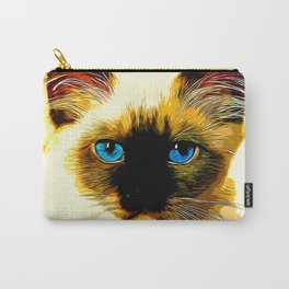 holy birma cat blue eyes vector art Carry-All Pouch