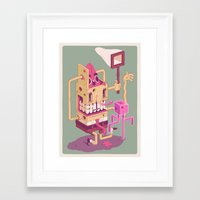 spongebob Framed Art Prints featuring Spongebob by Mike Wrobel