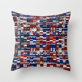 Simultaneous Love and Loathing (P/D3 Glitch Collage Studies) Throw Pillow