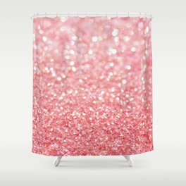 Coral Pink Shower Curtain