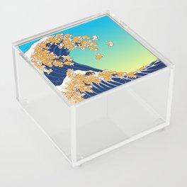 Shiba Inu in Great Wave Acrylic Box