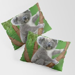 Blue-eyed Baby Koala Bear Pillow Sham