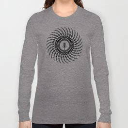 Disc Golf Basket Chains Long Sleeve T-shirt