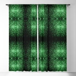 Glamour Dark Green glitter sparkles Blackout Curtain
