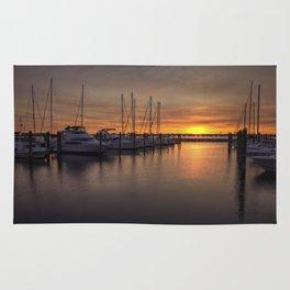 Boats At Sunset Rug