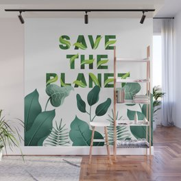 Save the Planet Wall Mural