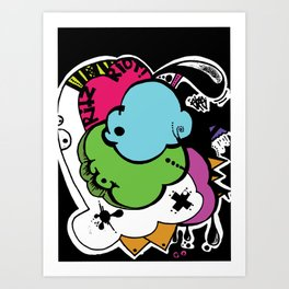 My experiment with shapes and other trash Art Print