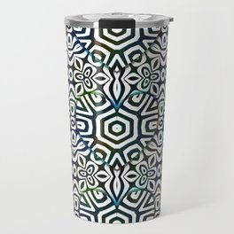Love in the Black and White Structures Travel Mug