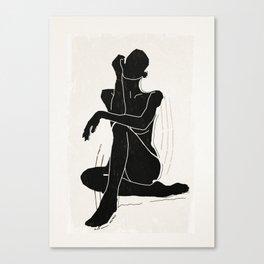 Nude woman 3 Canvas Print