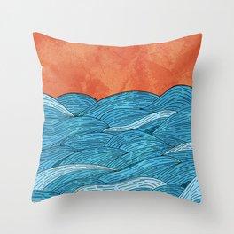 The Blue Sea Throw Pillow