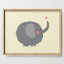 Baby Elephant Illustration Serving Tray