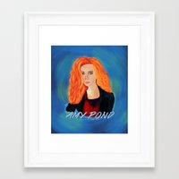 amy pond Framed Art Prints featuring Amy Pond by STATE OF GRACCE