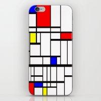 mondrian iPhone & iPod Skins featuring Mondrian inspired by Steve W Schwartz Art