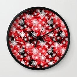 Snowflakes .  4 Wall Clock
