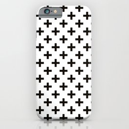 Crosses | Criss Cross | Plus Sign | Hygge | Scandi | Black and White | iPhone Case