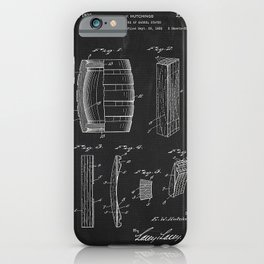 1933 Manufacture Of Barrel Staves  Patent Drawing iPhone Case