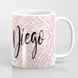Pink San Diego Design Coffee Mug
