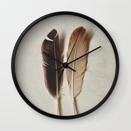 Feathered Pair Wall Clock