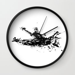 Kayaker in the Fog Wall Clock
