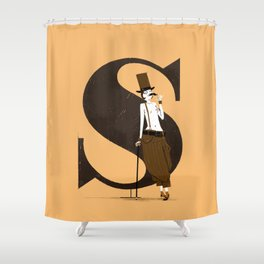 Simone & Bodoni Shower Curtain
