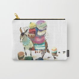 Watercolor cute donkey kids illustration Carry-All Pouch
