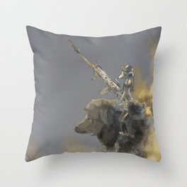 Slothbear Cavalry Throw Pillow