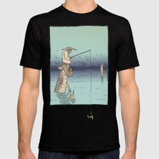 Fishing MEDIUM Mens Fitted Tee Black