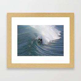 In the Curl  Framed Art Print