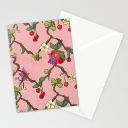Cherries and Vine Stationery Cards