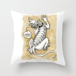 Lying Cat Throw Pillow