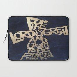 Lord is Great Cross Laptop Sleeve