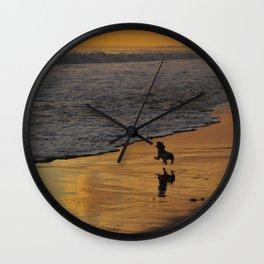 Fearless Determination, Plentiful Joy Wall Clock