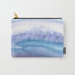 Blue Abstract Agate Carry-All Pouch