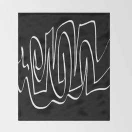 Black and white one Throw Blanket