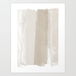 Beige Ombre Minimalist Abstract Painting Art Print