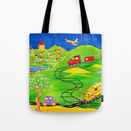 A Little Boy's Dream Tote Bag
