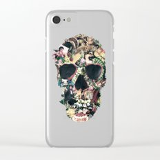 Vintage Skull Clear iPhone Case
