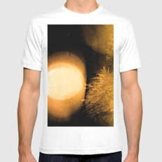 Dark Night Amber White Mens Fitted Tee MEDIUM
