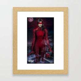 Lady Devil Rosario Framed Art Print