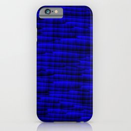 Square cross blue lines on a dark tree. iPhone Case