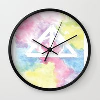 deathly hallows Wall Clocks featuring Deathly Hallows  by Mackenzie Hahn