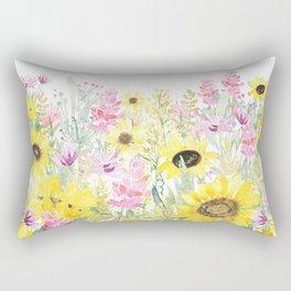 Summer Garden (Sunflower Passion) Rectangular Pillow