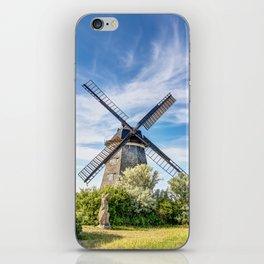 Typical Dutch windmill in Benz on Usedom island iPhone Skin