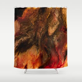 Papillon de feu Shower Curtain