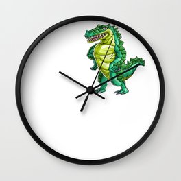 Love Crocodile Alligator Reptile Animal Wall Clock
