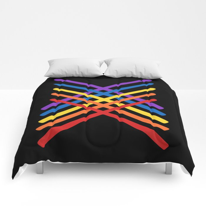 Retro Musician Drum Sticks Comforters